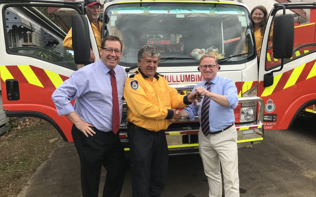 BIG BOOST FOR NORTHERN RIVERS FIREFIGHTERS WITH UNVEILING OF NEW VEHICLE