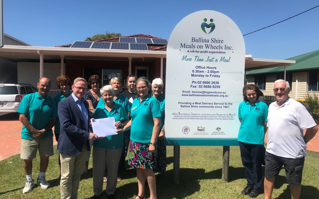 SOLAR TO POWER BALLINA MEALS ON WHEELS