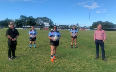 Kicking goals for women at Ballina Rugby Club