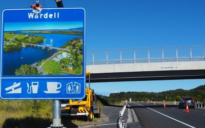WARDELL SIGN SENDS TOURIST DOLLARS TO TOWN